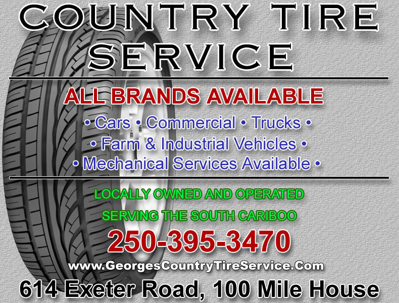 Country Tire Service, 100 Mile House, BC - 250-395-3470